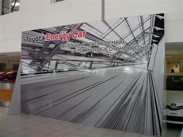 Mur d'image support en PVC et marquage adhésif numérique