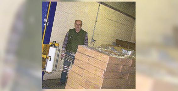 Filmage automatique de palette Logistique ARC  à Emerainville Seine et Marn