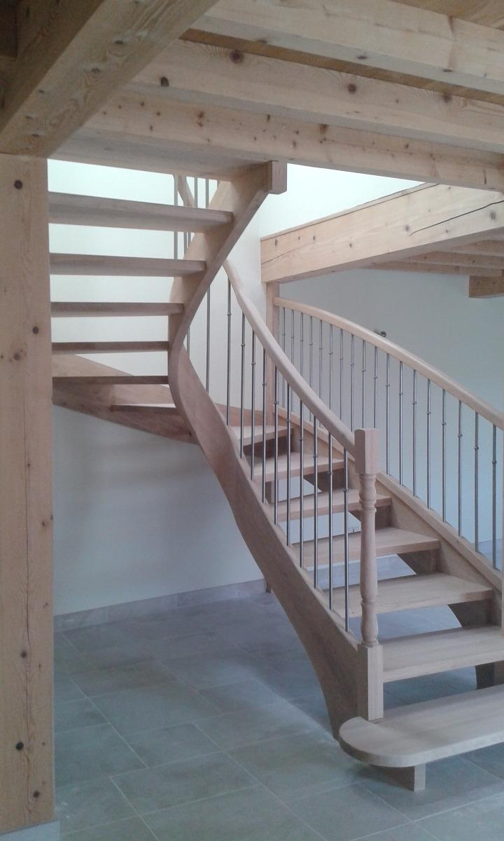 escalier deux quart tournant debillardé