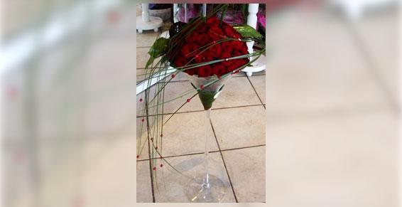 Boule de roses - Acacia Fleurs - Fleuriste Cannes