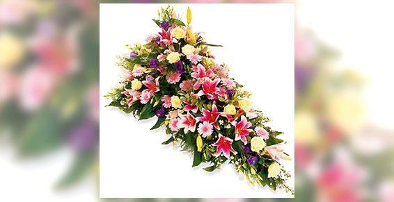 Gerbe de fleurs deuil - Acacia Fleurs - Fleuriste Cannes