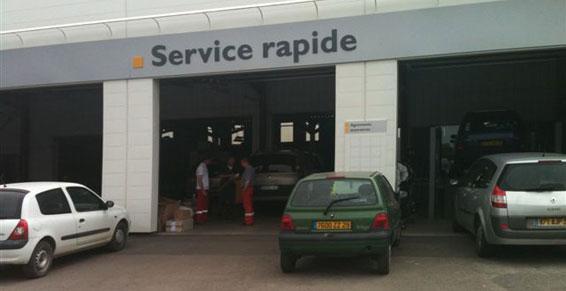 garage : service rapide