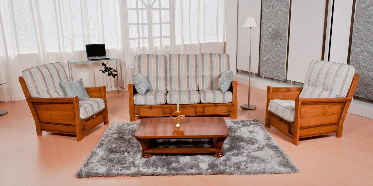 Salon rustique chêne