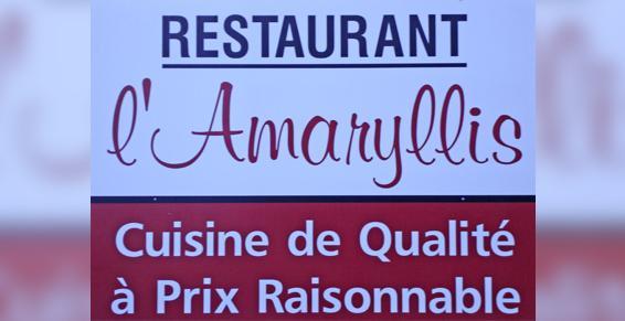 Restaurant L'Amaryllis, Cuisine de qualité à prix raisonnable
