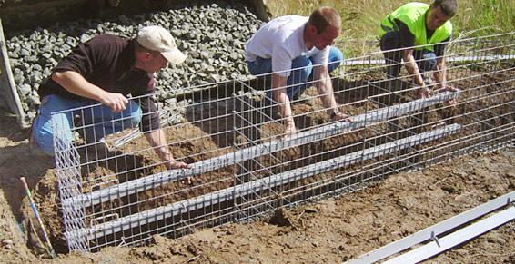 travaux publics - cages à gabions