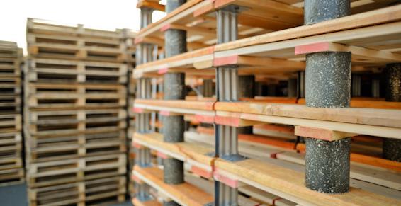Des palettes recyclées Fibem Tourcoing en bois