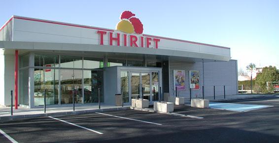 Menuiserie métallique - façade magasin Thiriet 57
