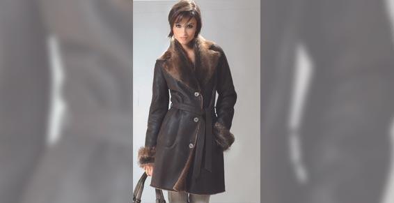Vêtements de cuir et peau - Manteau de cuir et fourrure