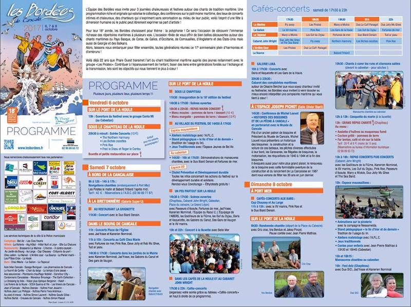 programme bordees de cancale 2017