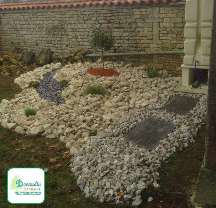 Création d'un jardin minéral par Damien Decaudin