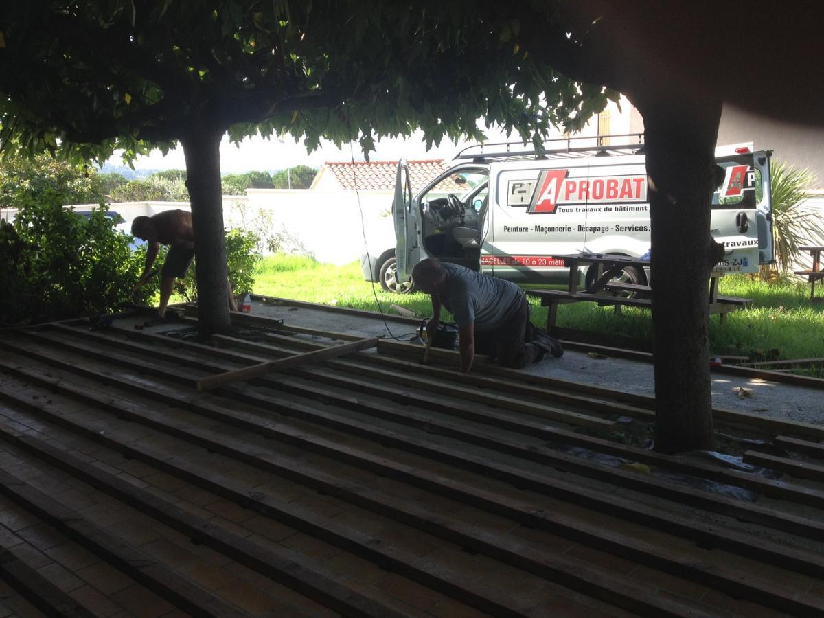 Pose de parquet extérieur Ajaccio