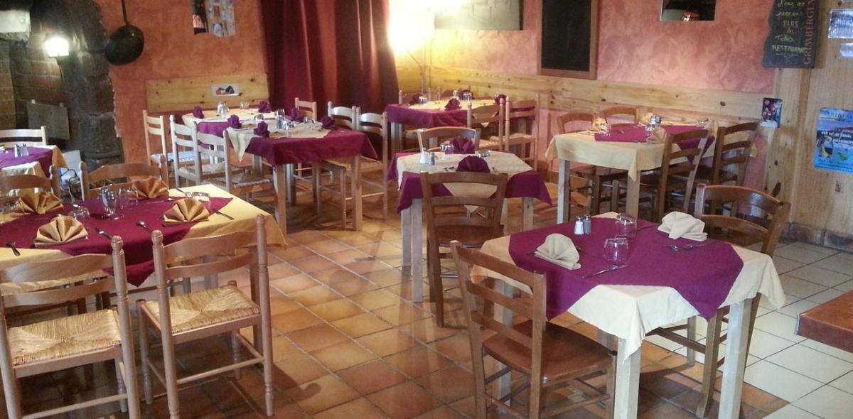 La salle du restaurant à Solignac-sur-Loire