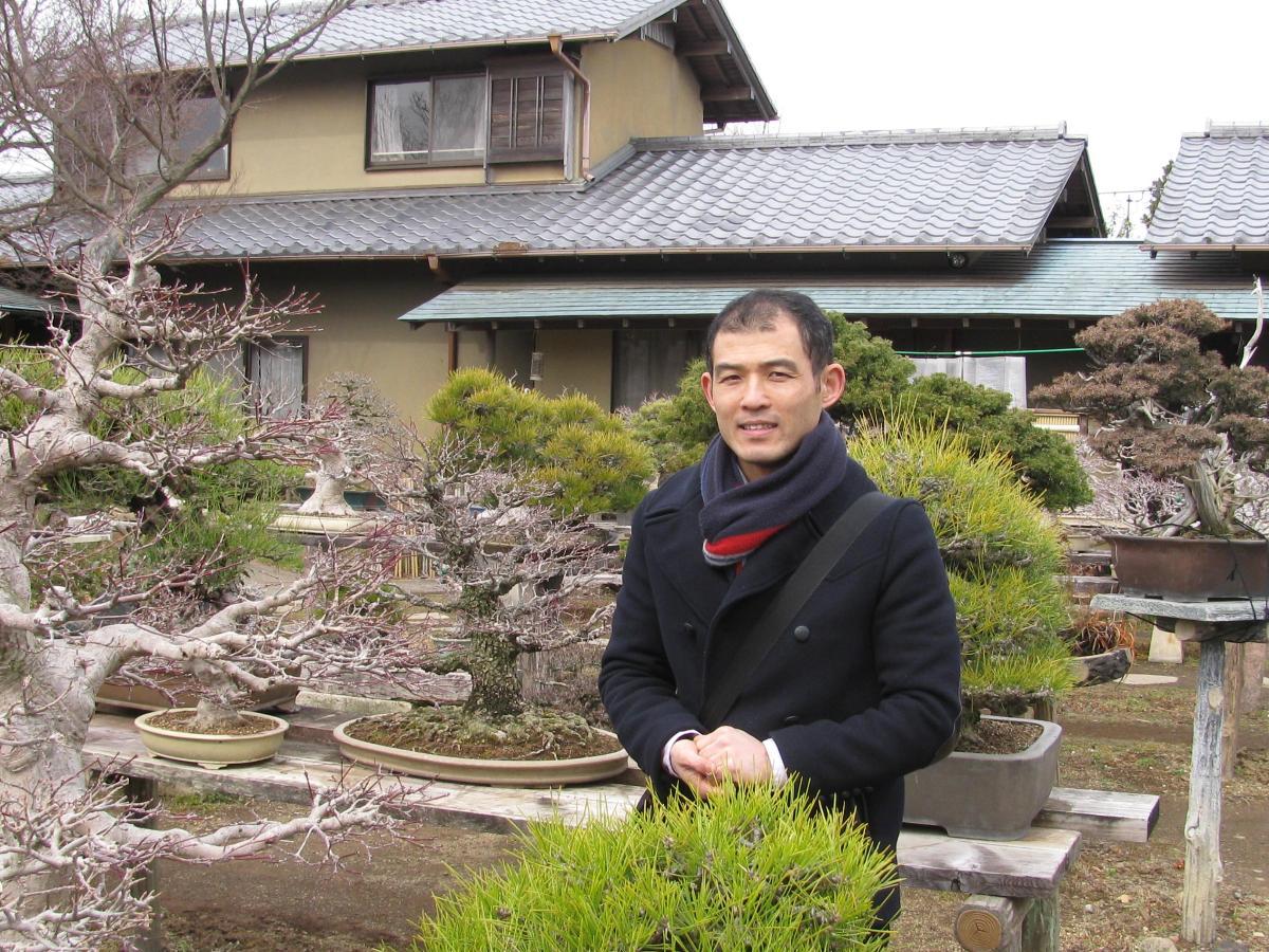 Shinichi dans la pépinière Japonaise