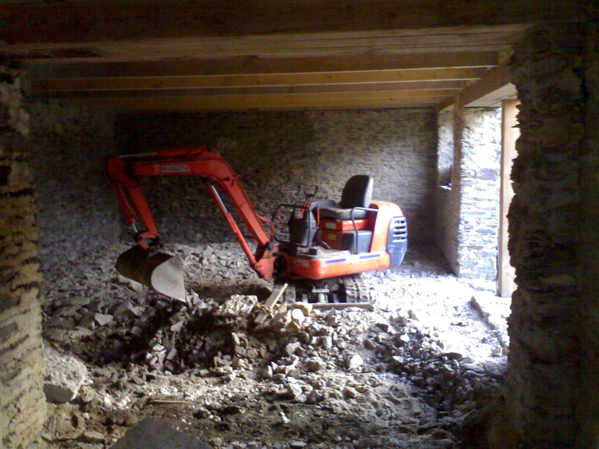 demolition interieure dalle beton