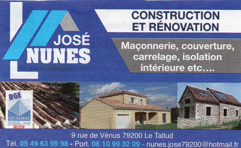 José Nunes, artisan maçon, Le Tallud (79)