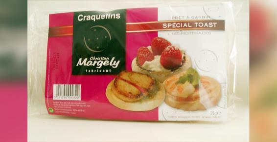 Les 32 minis craquelins 'Spécial Toasts' 55 gr