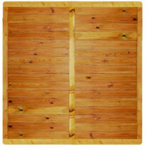 Ecran bois Bornéo cadre 40 x 78 mm