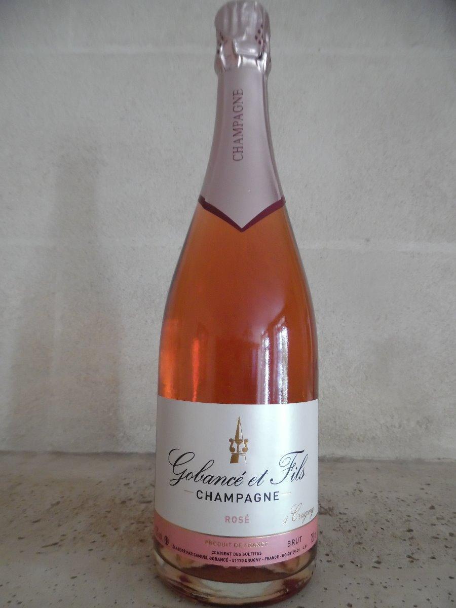 Champagne Rosé la bouteille