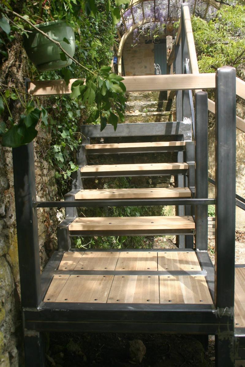 escalier avec marches en chêne