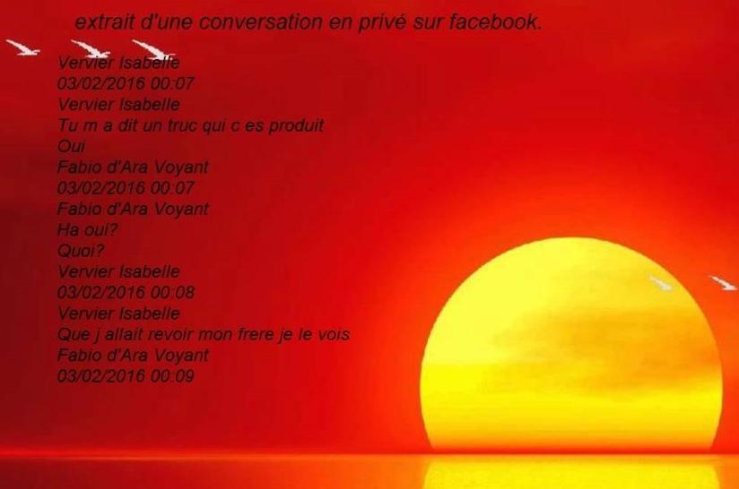 conversation privé sur facebook