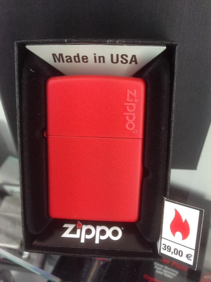 Color RED Matte with Loggo Zippo
