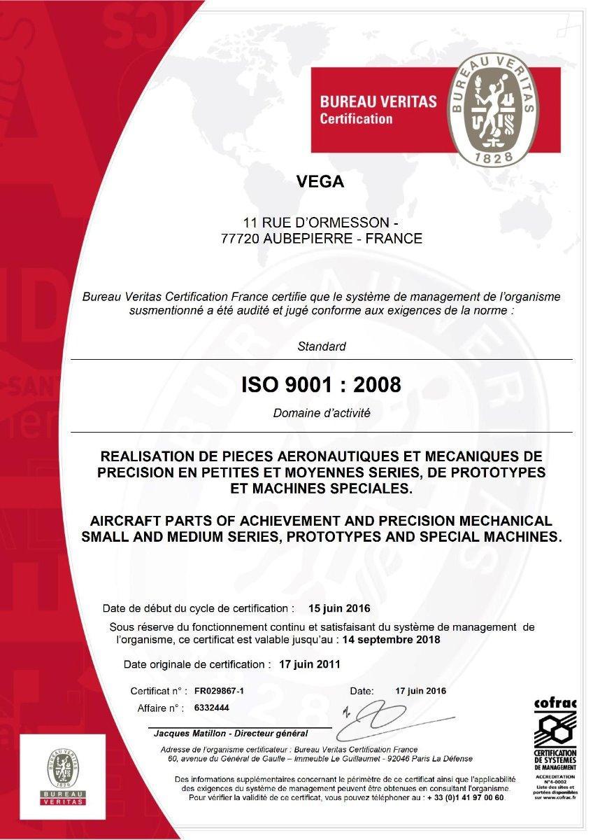 CERTIFICAT ISO 9001V1