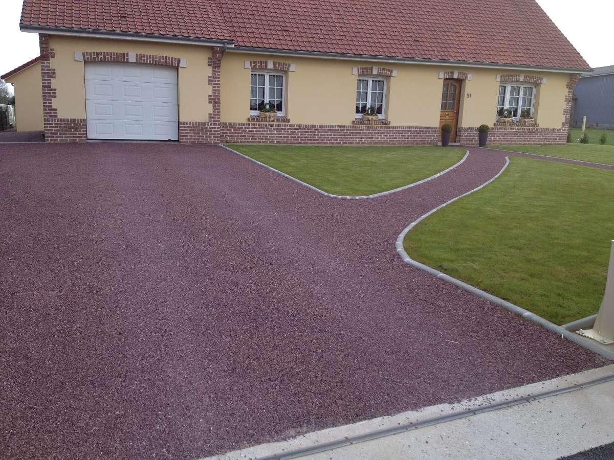 Boulard TP à Beaurainville près de Berck - Pose d'emulsion rosé