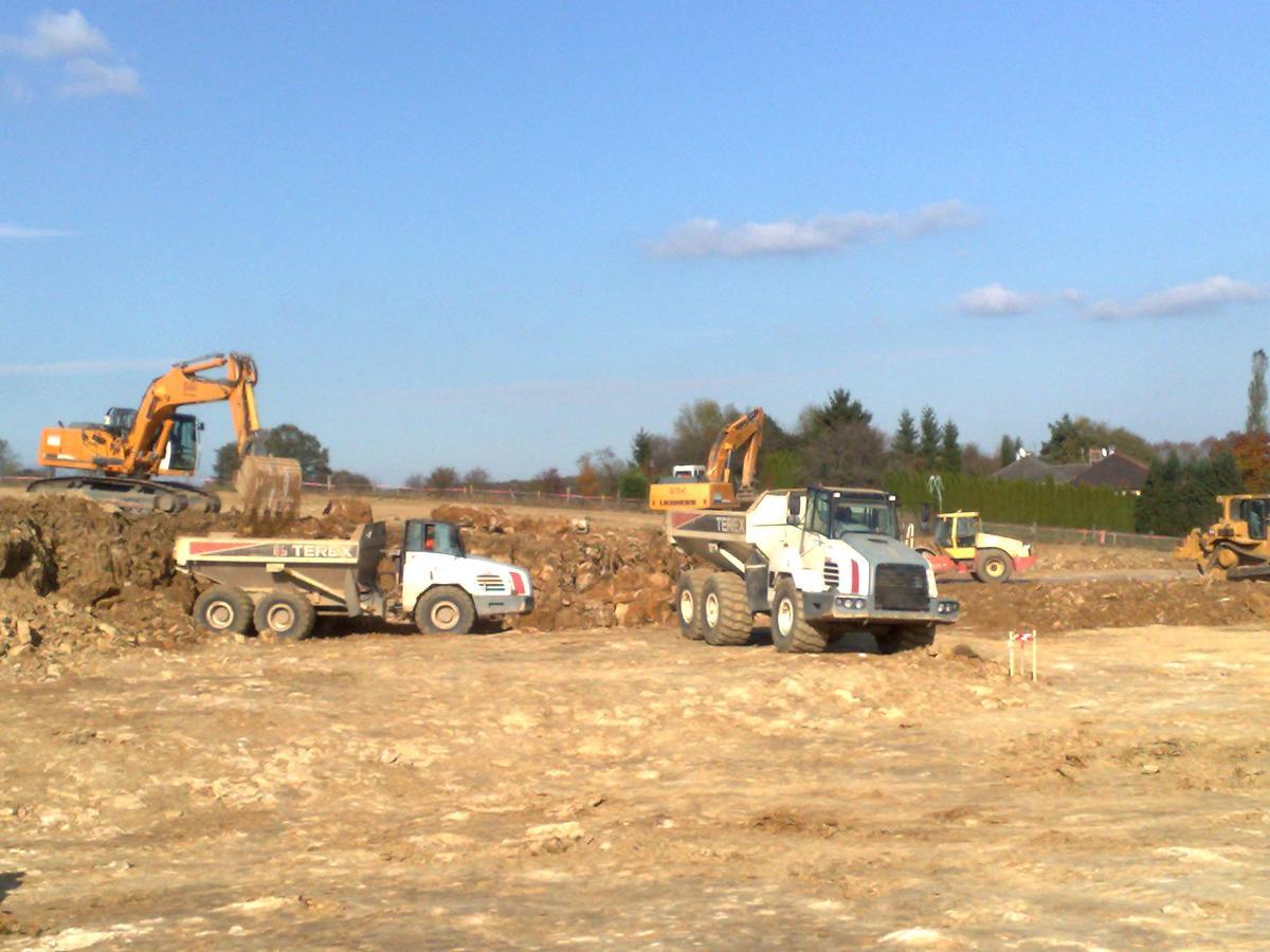 Réalisation de terrassement masse