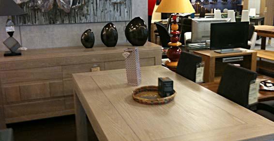 meubles - Table basse et buffet en bois