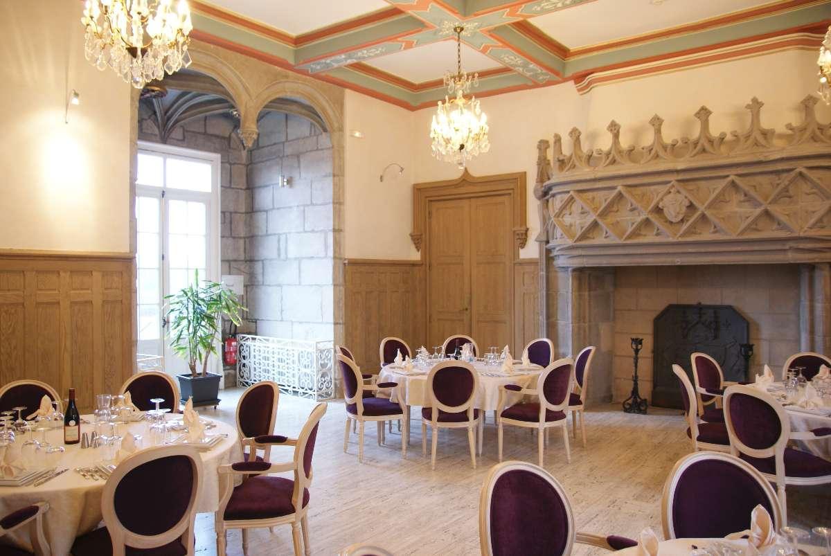 Petit salon Château de Bouthéon Loire