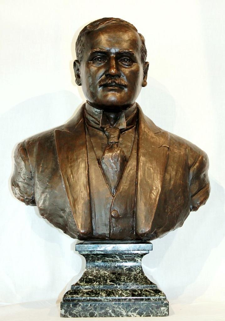 Buste En Bronze Réalisé En 1921 Par Georges Setta