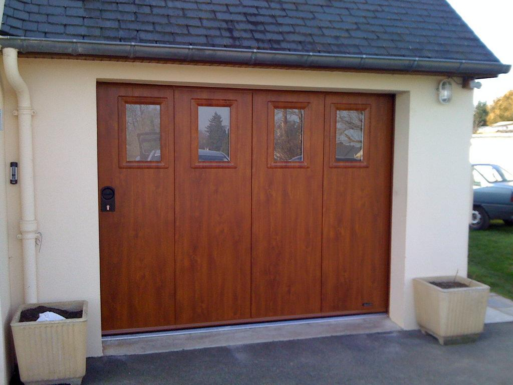 A.B.I Renov, porte de garage aluminium  ton bois près de Rouen