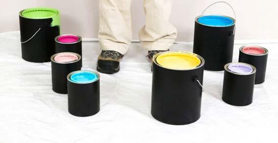 peinture revêtements - pots de peinture