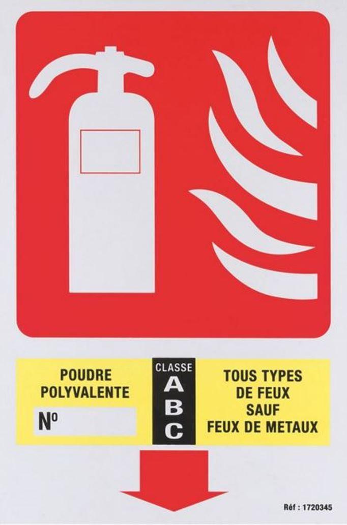 panneau extincteur poudre abc