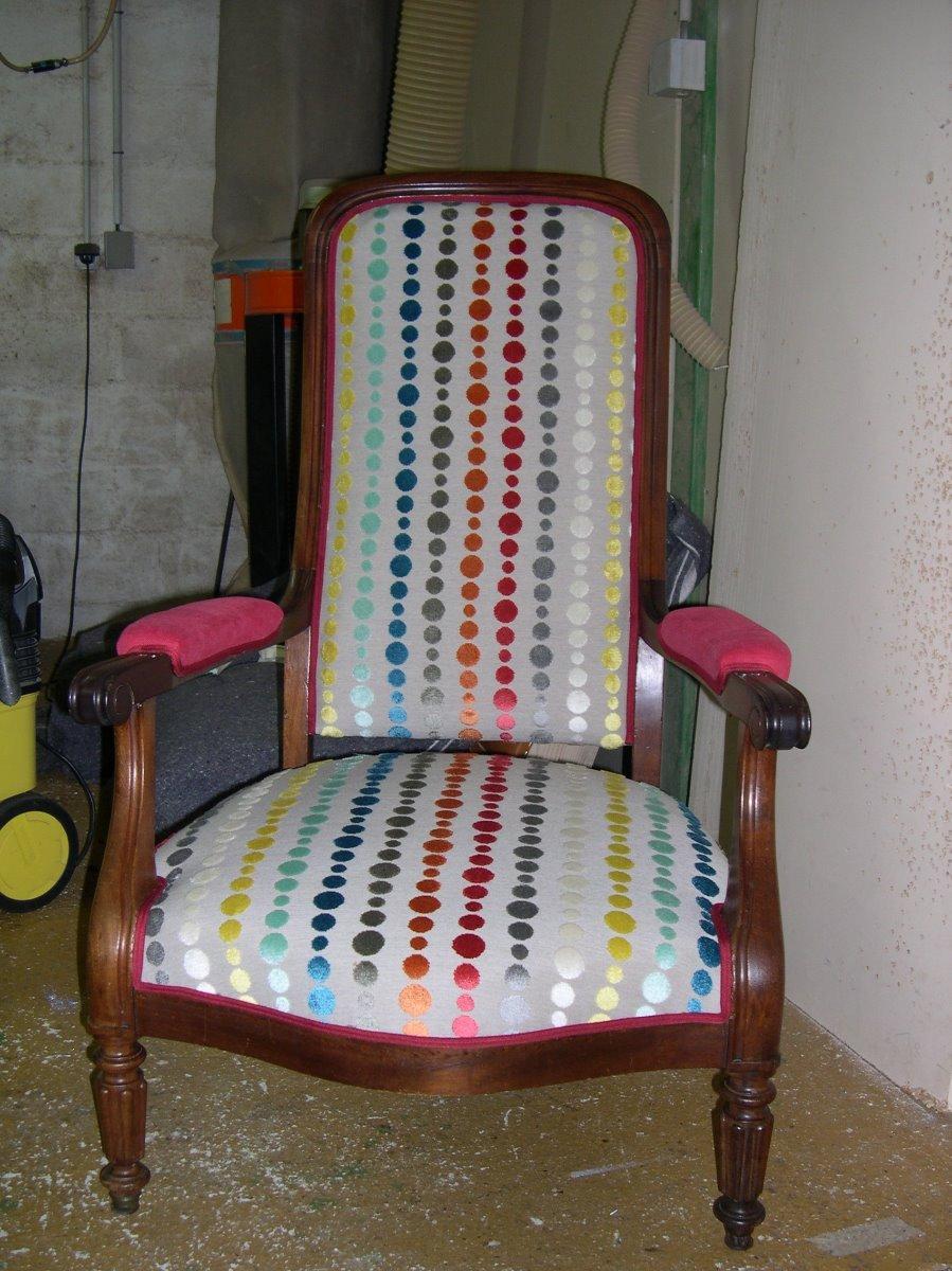 Refection fauteuil Voltaire avec tissus