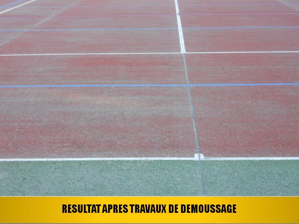 APRES TRAVAUX DE DEMOUSSAGE