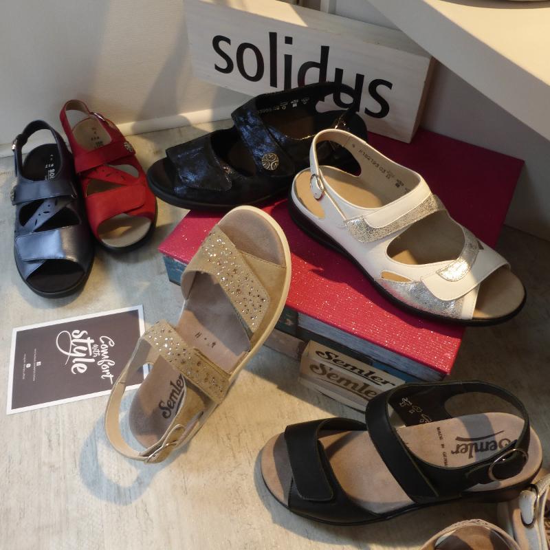 Chaussures Aux Pieds Sensibles_Nu-pieds réglables grande largeur et confort absolu