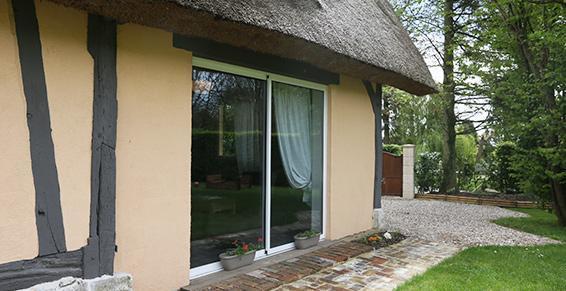 Isolation de maison normande traditionnelle en Basse-Normandie